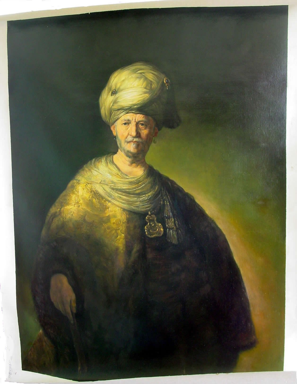 A Reproduction of Knee-length Figure of a Man in an Oriental Dress Rembrandt Check more at https://artunframed.com/Gallery/shop/a-reproduction-of-knee-length-figure-of-a-man-in-an-oriental-dress/