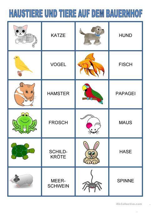 Memory Spiel Haustiere Und Tiere Auf Dem Bauernhof Memory Spiele Haustiere Bauernhof Tiere