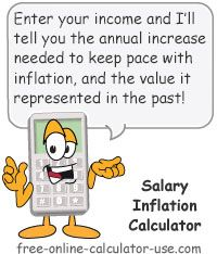 The Salary Inflation Calculator Will Help You To Estimate How Much