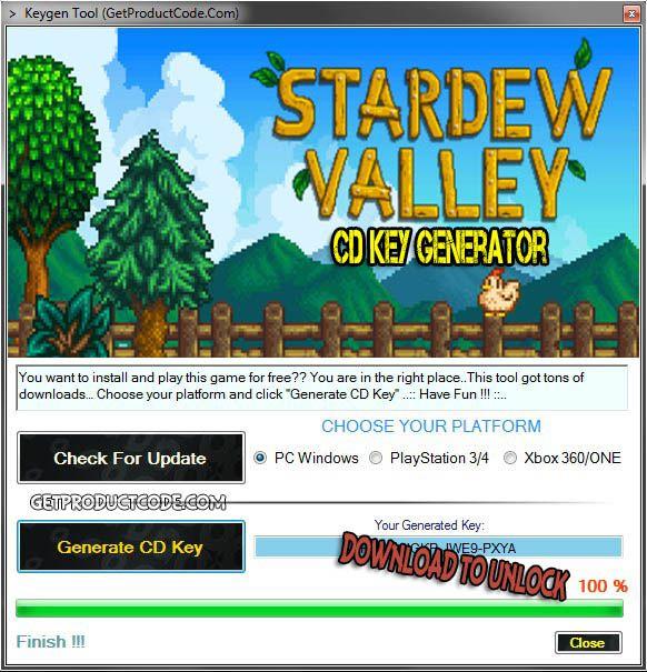 Stardew Valley CD Key Generator 2016   Free Game Keygens and
