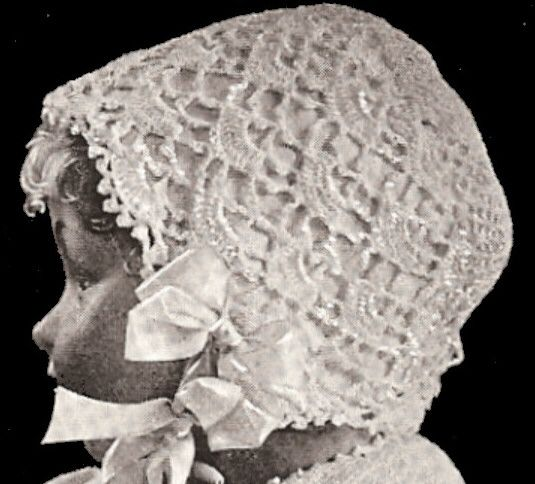 Vintage 1916 Baby Bonnet Crochet Pattern Crochet Baby Hats And
