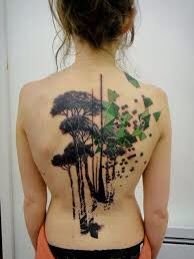 Tree tattoo.