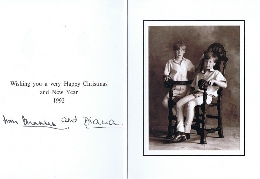 A Princess For Christmas Poster.Prince Charles And Princess Diana S Christmas Card 1992