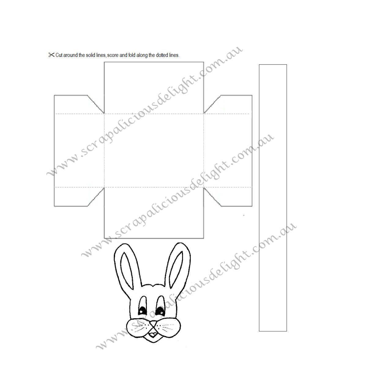 Easter Basket With Bunny Face Printable Template Preschool Art