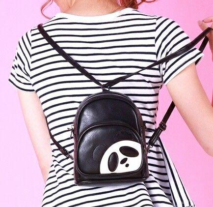 538d47d9a6 Panda Style Backpacks For Girls Fashion Panda Bags Preppy Style Backpacks  Large Bags For Girl Kawaii Cartoon Panda School Bags For Teenagers