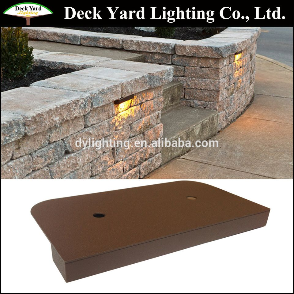 Under Cap Retaining Wall Landscape Light Kits Brick Stone 12v Led Retaining Wall Lights Retaining Wall Lighting Landscape Lighting Retaining Wall