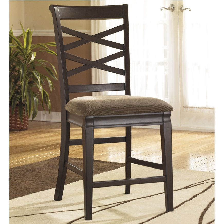 Made of tough hardwoods, this barstool is as tough as it as dapper. Accenting your interior design, this pair of barstools with its classy, brown upholstery will give a traditional yet smooth look.