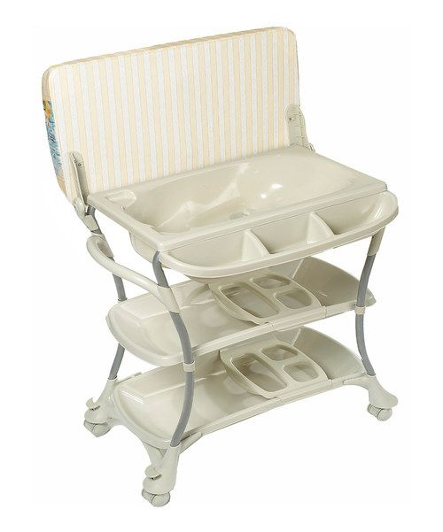 An Elevated Baby Bath And Changing Station Meet In The Eurospa The Tub Features Two Bathing Positions And A Con Baby Changing Tables Baby