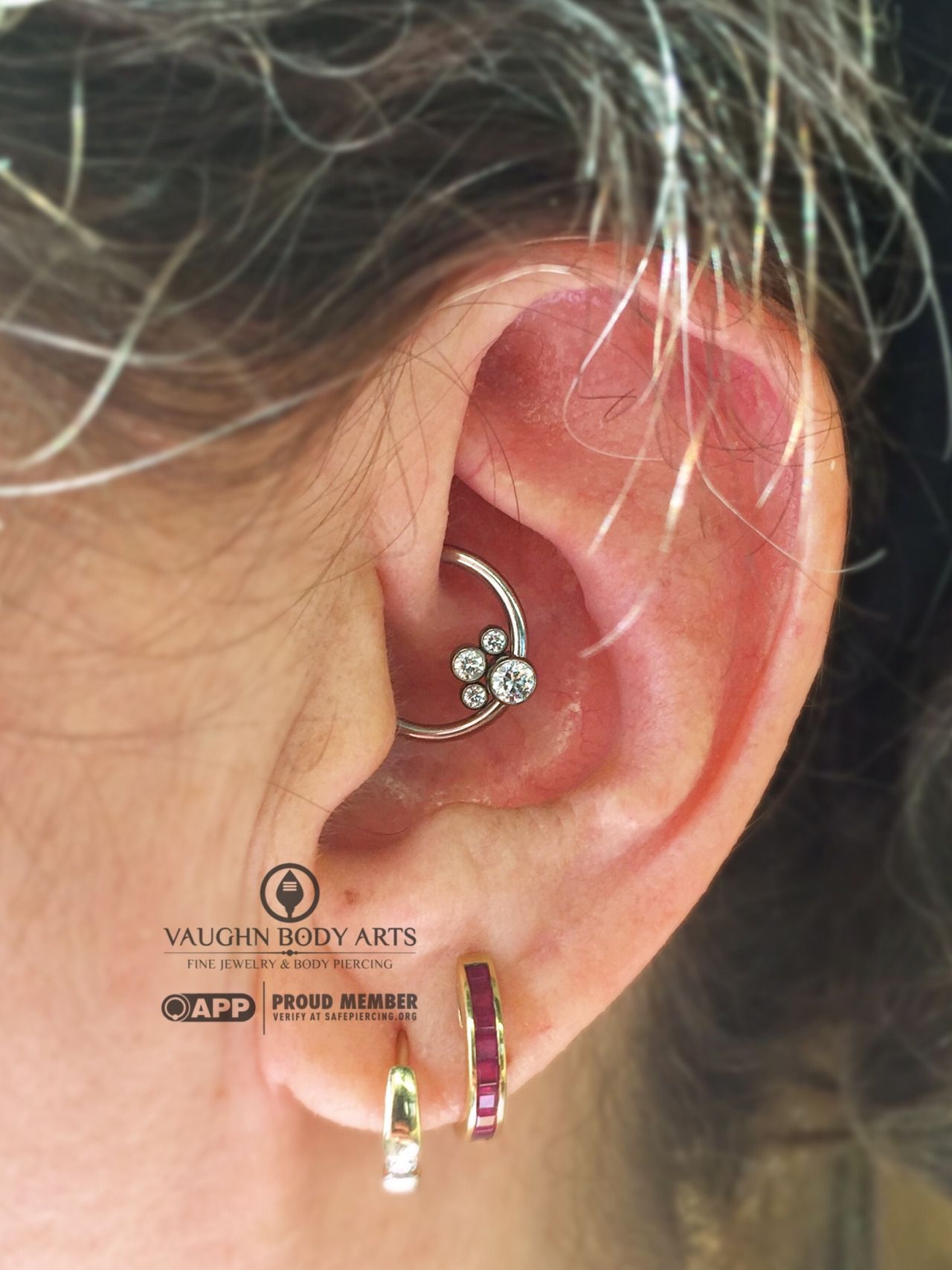 We really like the look of a daith piercing when the lower portion ...