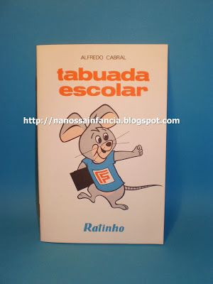 Cá está o meu livro da tabuada...