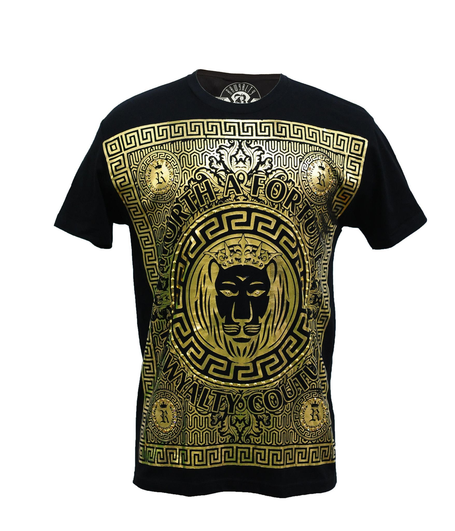 fff68859 Rawyalty Men's Gold Fortune Bling Tee | t shirts | Mens tee shirts ...