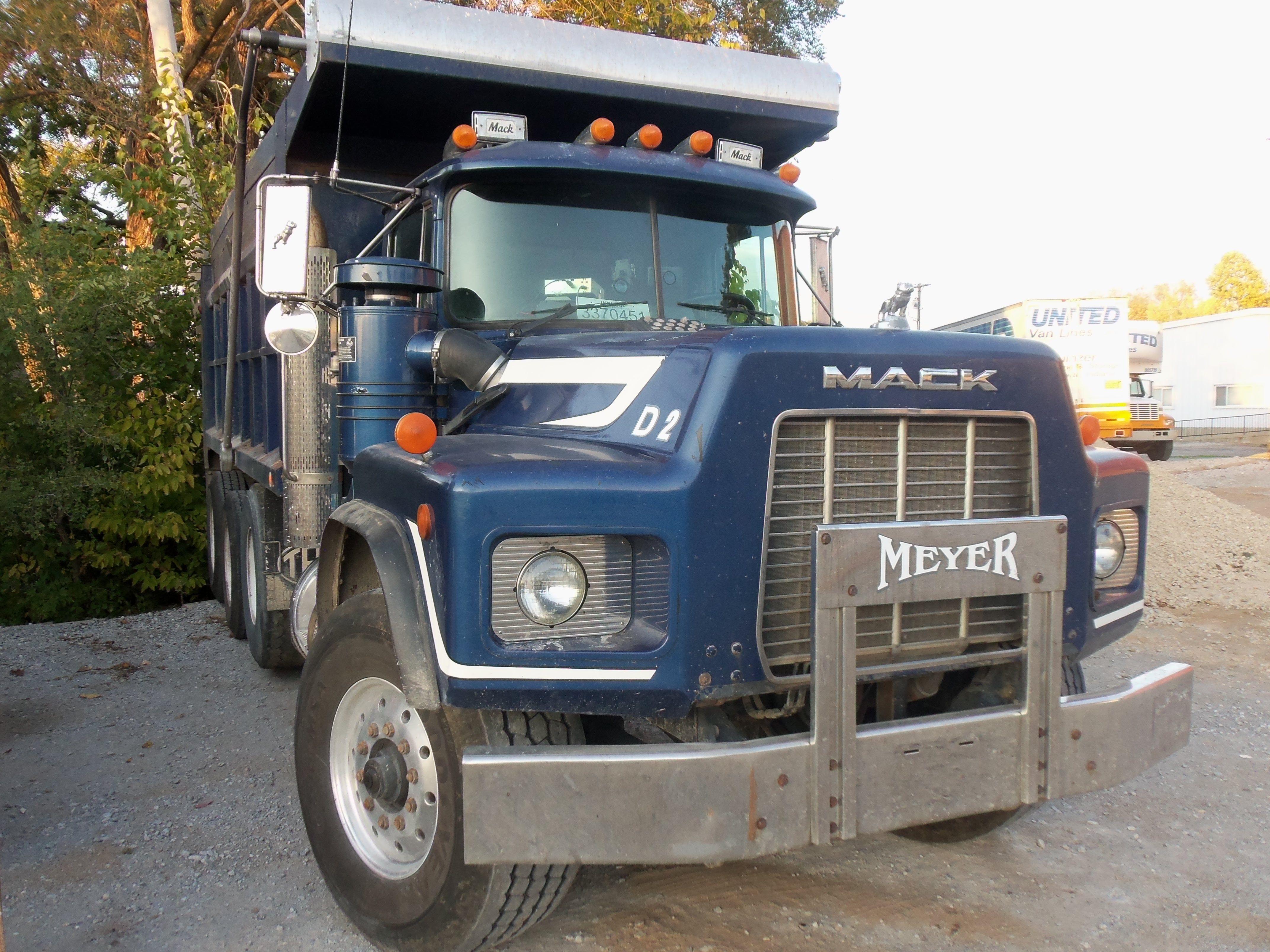 tri axle mack model rb dump truck my truck pictures pinterest