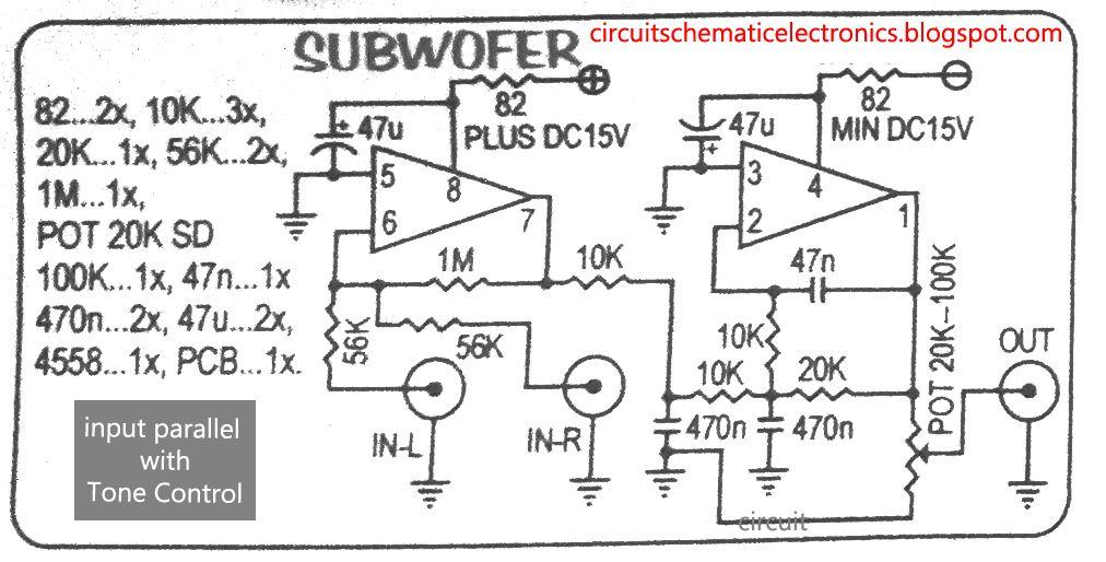 Control And Power Drive Circuit Diagram Amplifiercircuit Circuit