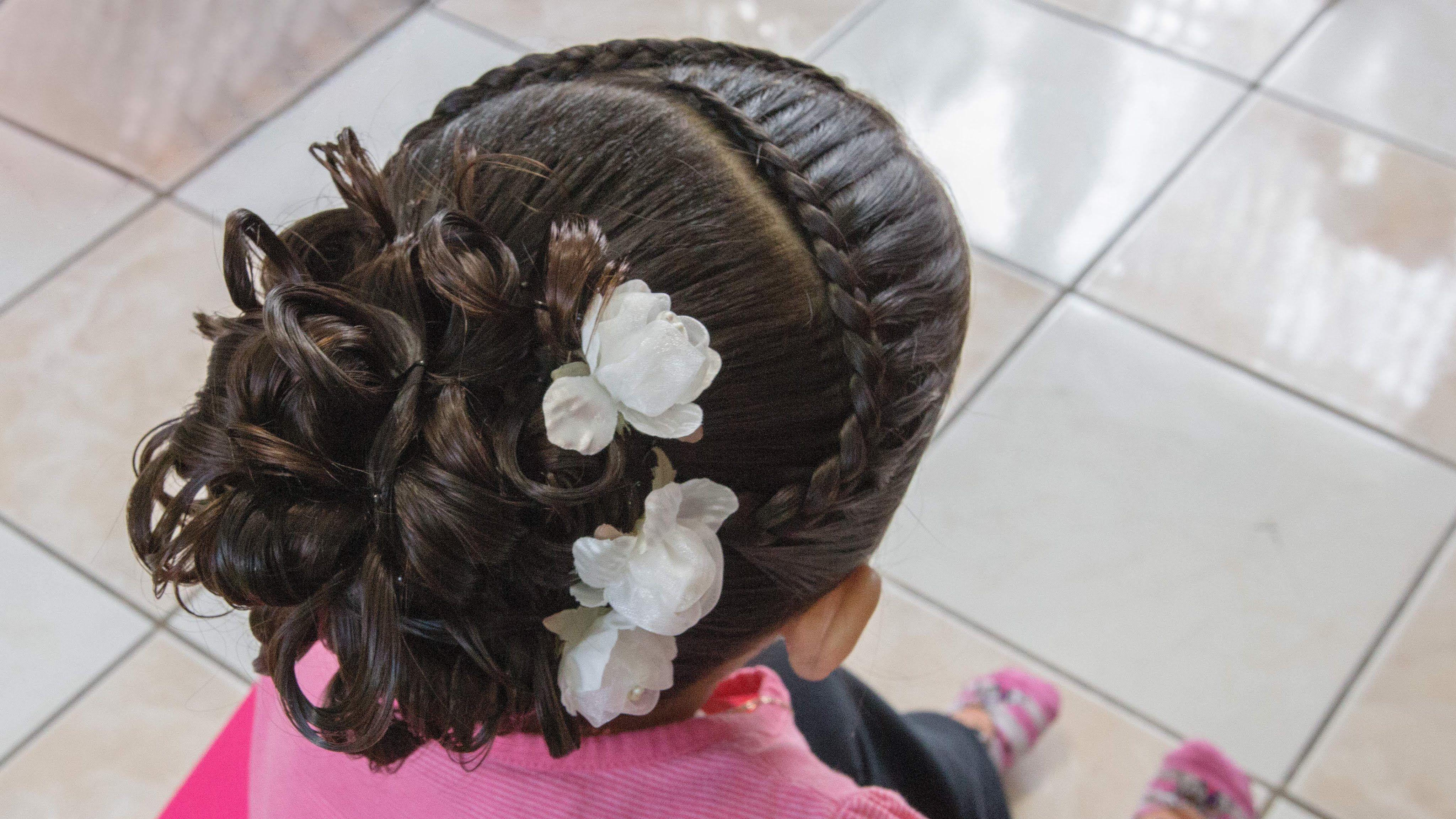 Peinado Elegante Para Nina Facil Kids Hairstyles Girl Hair Dos Quince Hairstyles