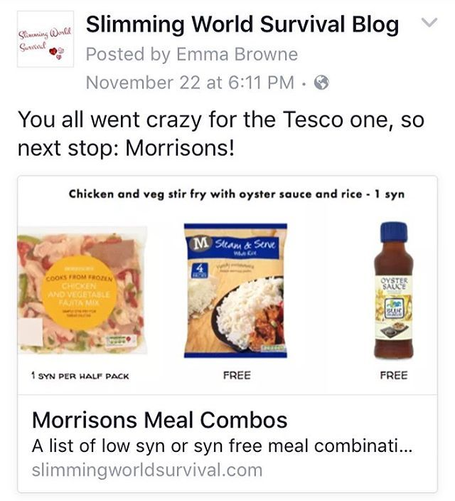 Morrisons meal combo list now on the blog