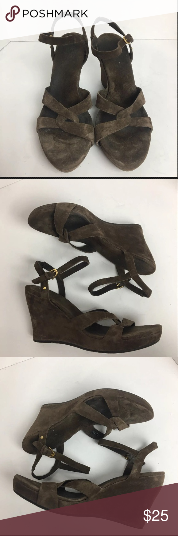 1cfb6fa4787 UGG Arianna brown suede platform wedge sandals Great condition A ...