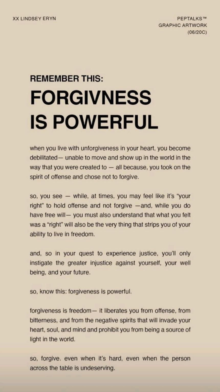 Allow Yourself To Forgive others and allow peace into your world. 💥Self Development Coaching