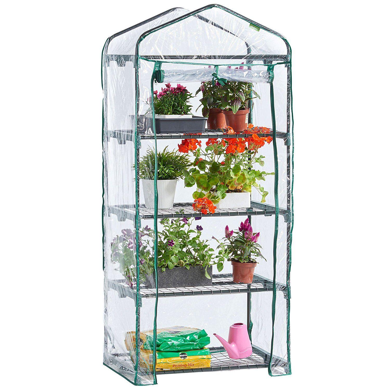 Vonhaus 4 Tier Mini Plastic Pvc Greenhouse Amazon Co Uk 400 x 300