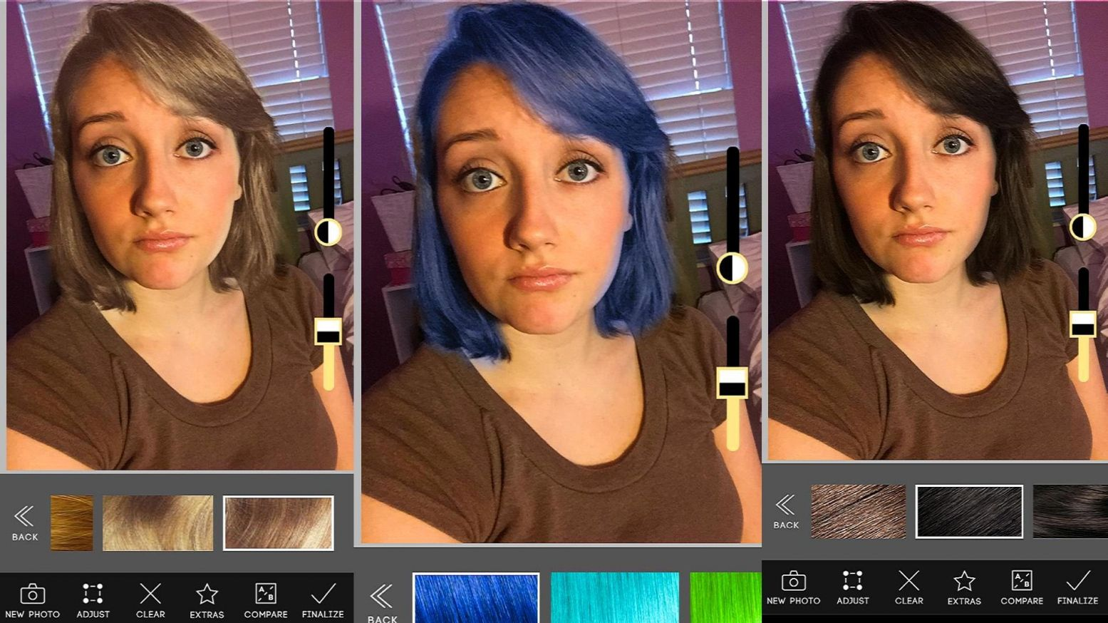 App That Changes Your Hair Color Best Color To Dye Gray Hair Check More At Http Www Fitnursetaylor Com App Change Hair Color Change Hair Hair Color Changer