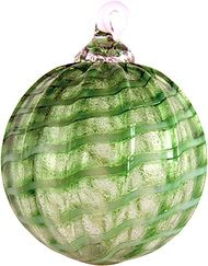 Seattle Washington artist Glass Eye Studio Glow Ornament Monster Green