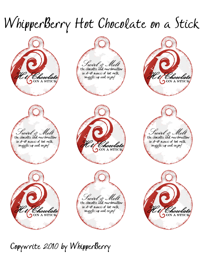 Hot Chocolate on a Stick printable.pdf | Christmas hot ...