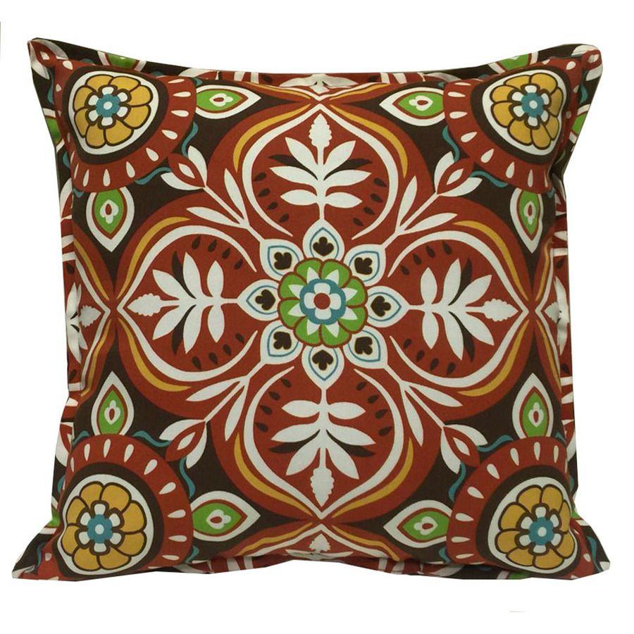 Shop Garden Treasures Stripe Square Throw Outdoor Decorative Pillow