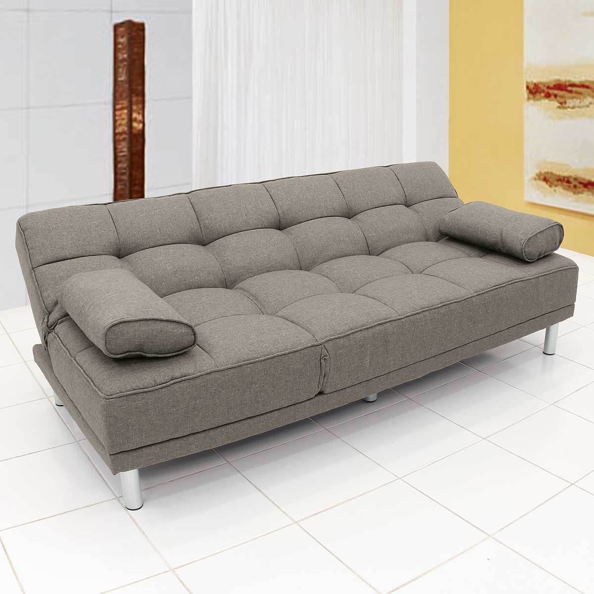 Sof cama chaise concorde taupe for Sofa cama chaise longue piel