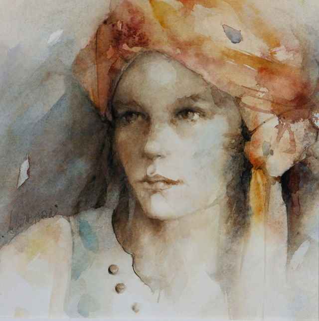 Lelie Abadie Portraits With Emotion Portraits Aquarelle