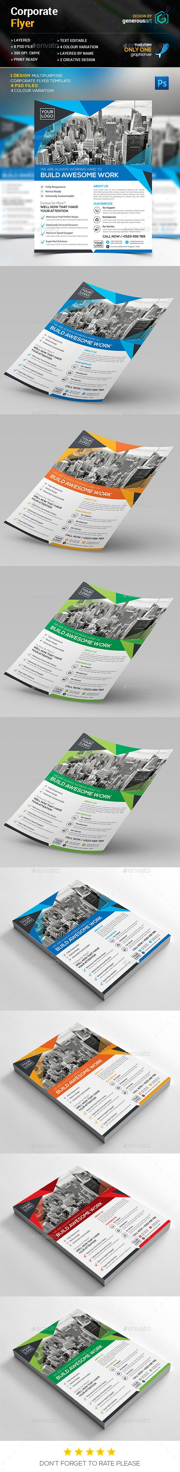 Corporate Flyer Template PSD #design Download: http://graphicriver ...