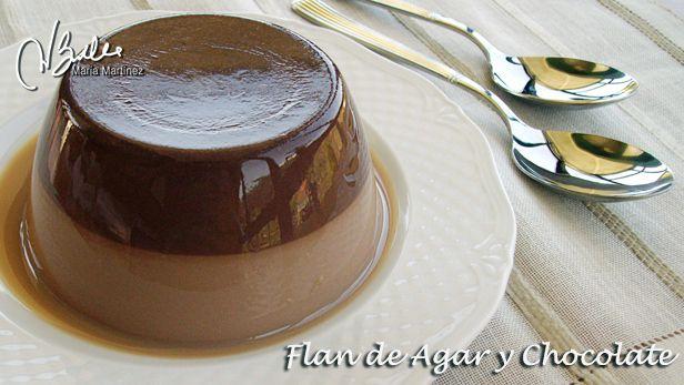 Flan Dukan de Agar y Chocolate, de RecetasDukanMariaMartinez.com