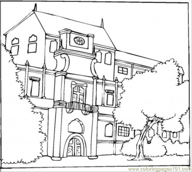 Beautiful Bungalow Coloring Page Free Printable Coloring Pages House Colouring Pages Kindergarten Coloring Pages Coloring Pages