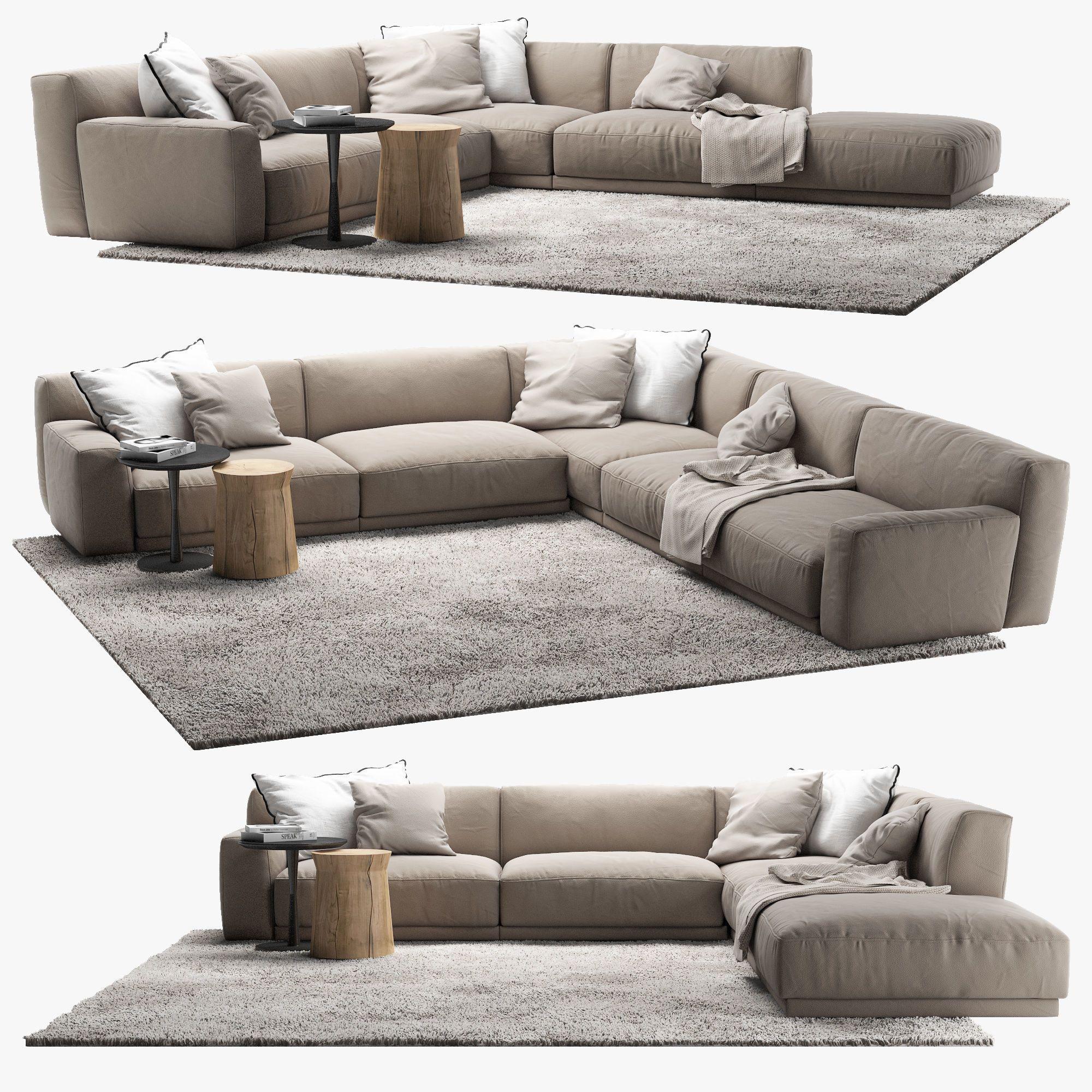 Poliform Paris Seoul Sofa 4 3d Model Sofa Set Living Room Sofa Design L Type Sofa