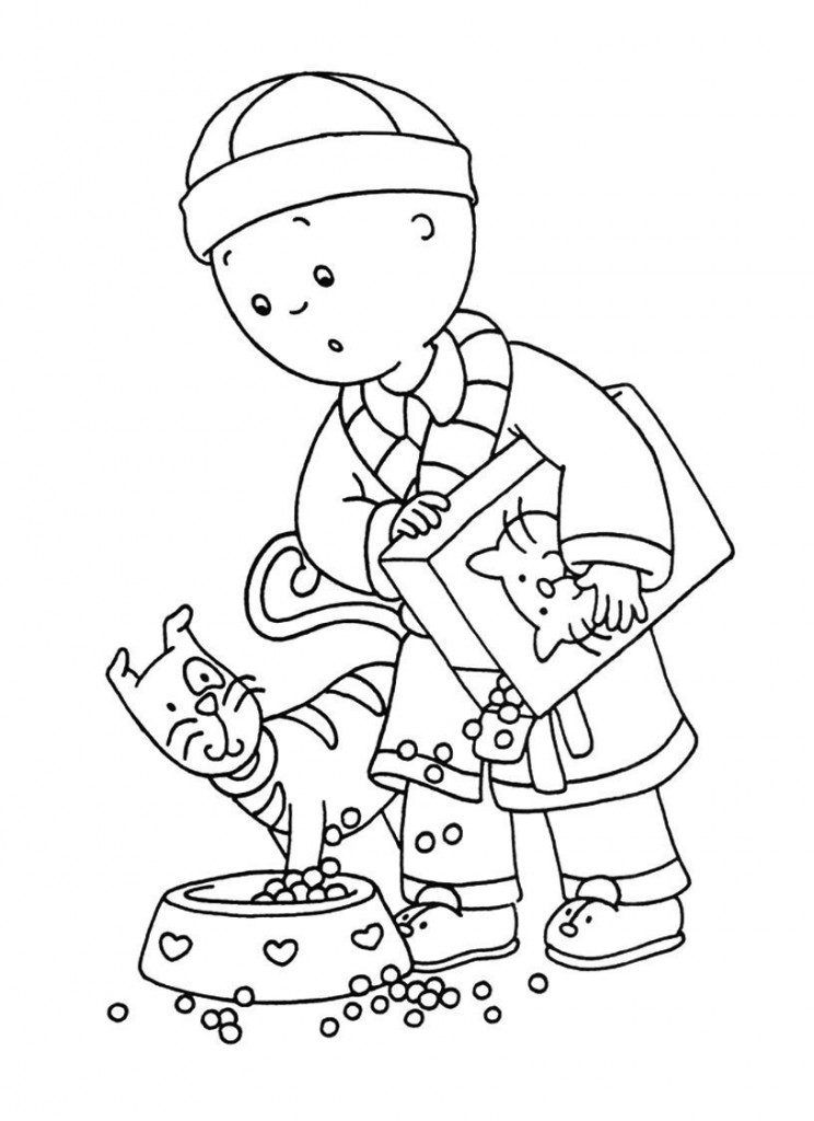 Caillou Coloring Pages | Caillou