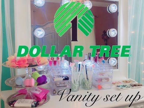 Dollar Tree Diy Makeup Organizer Storage Do It Yourself Youtube Diy Makeup Vanity Makeup Organization Diy Dollar Store Diy