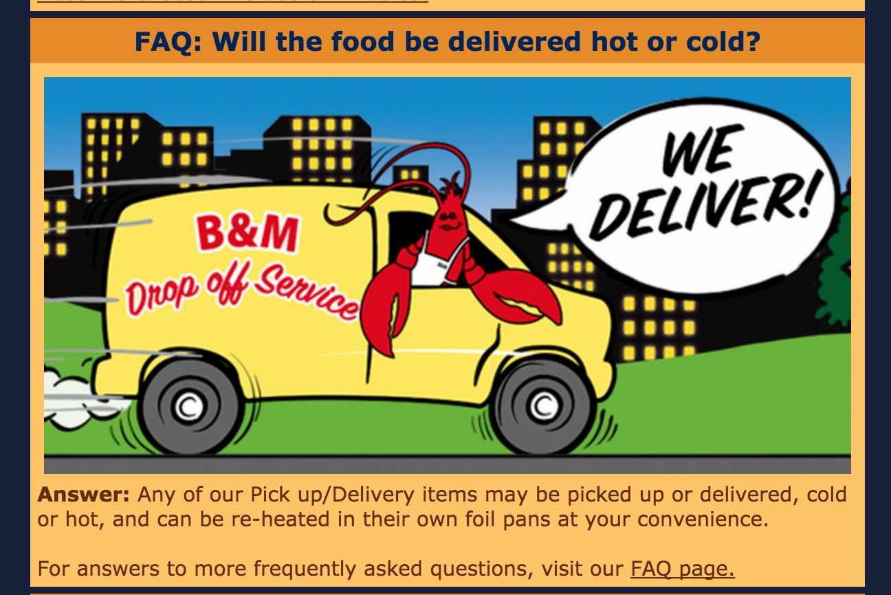 Will our food be delivered hot or cold? #caterer #delivery
