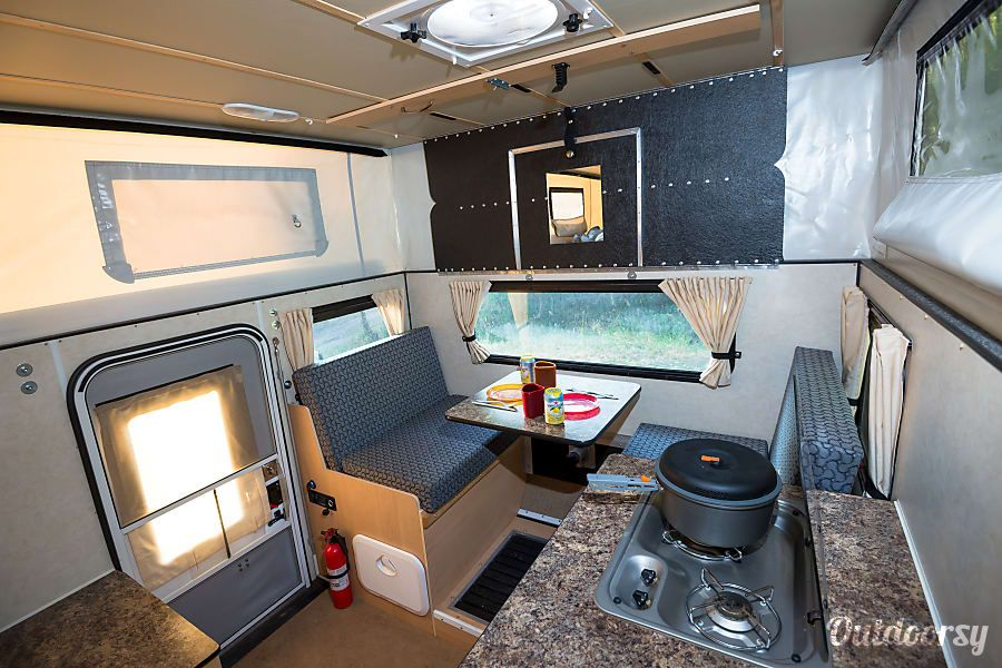 Interior 2015 Four Wheel Campers Hawk Flatbed In Fruita Co Camper Truck Bed Camper Slide In Camper