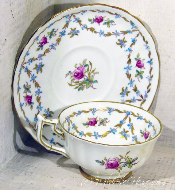 Royal Chelsea Vintage China Teacup 30 by WildroseHeaven on Etsy