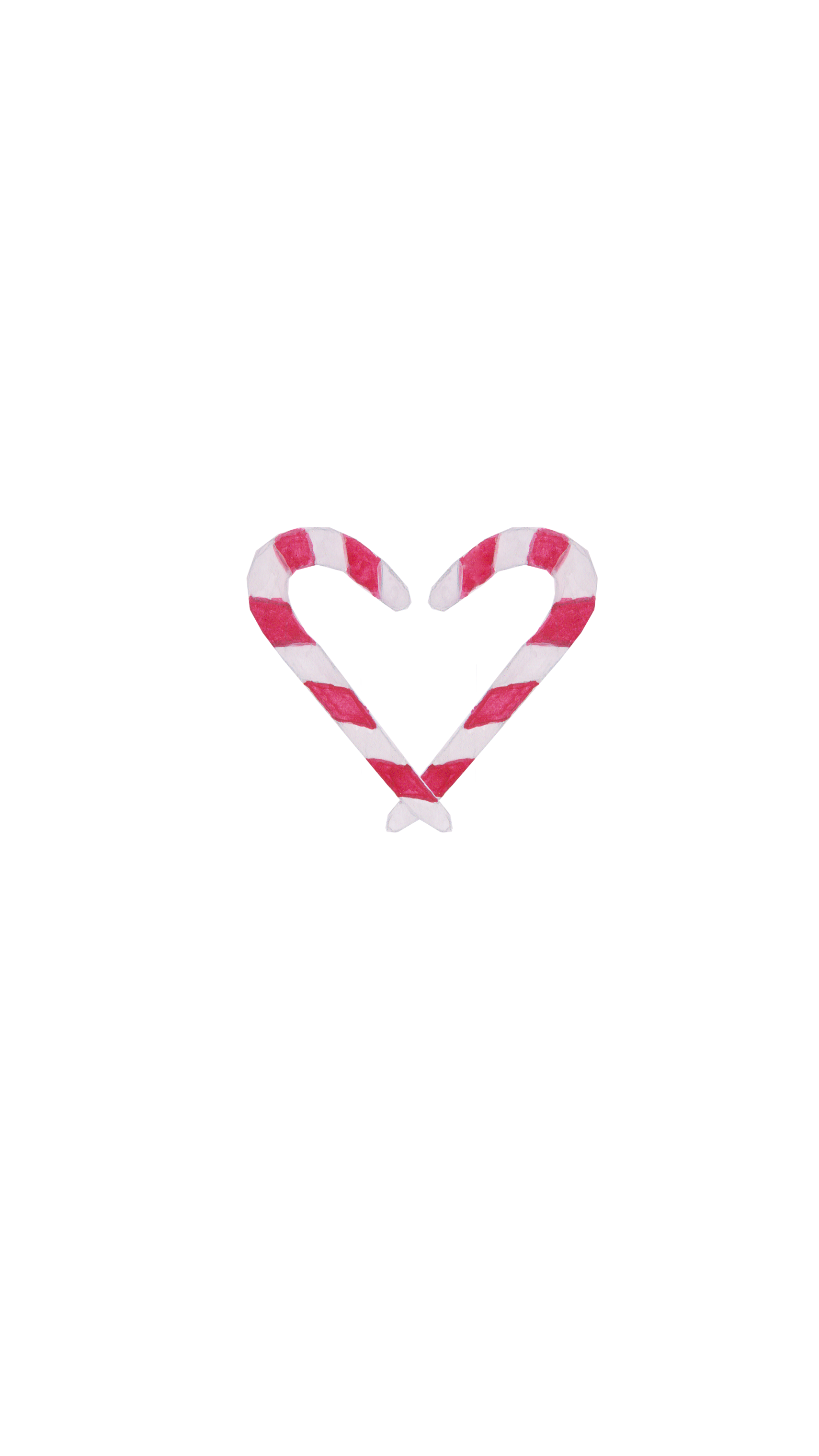 Candy Cane Christmas Heart Watercolor Phone Wallpaper Wallpaper Iphone Christmas Cellphone Wallpaper Christmas Candy Cane