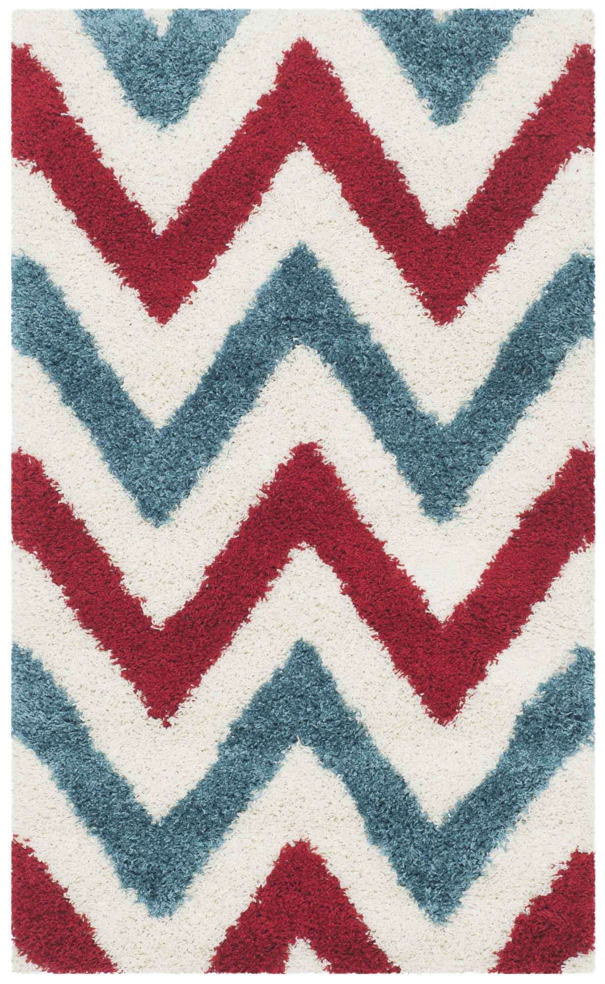 Red White Blue Chevron Rug With Images
