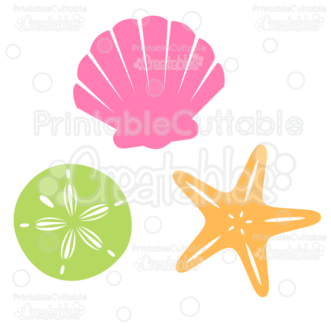 Sea Shells Free SVG Cut File & Clipart - SVG scrapbook cutting ...