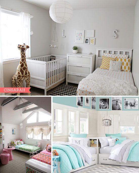 Partager une chambre d 39 enfant les lits jumeaux projets essayer pinterest lits jumeaux for Chambre jumeaux deco
