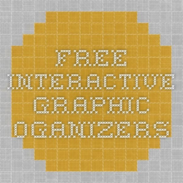 Free interactive graphic oganizers | Graphic organizers ...