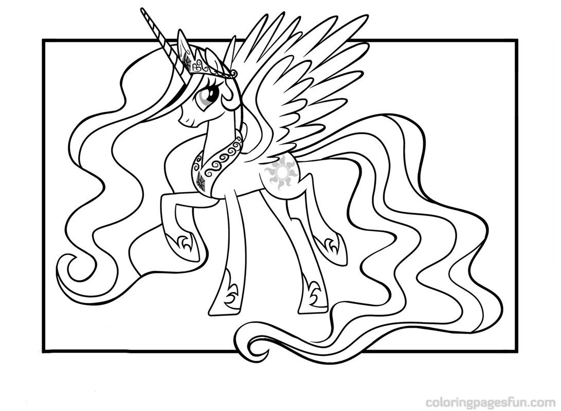 My Little Pony Princess Celestia Coloring Pages For Kids My