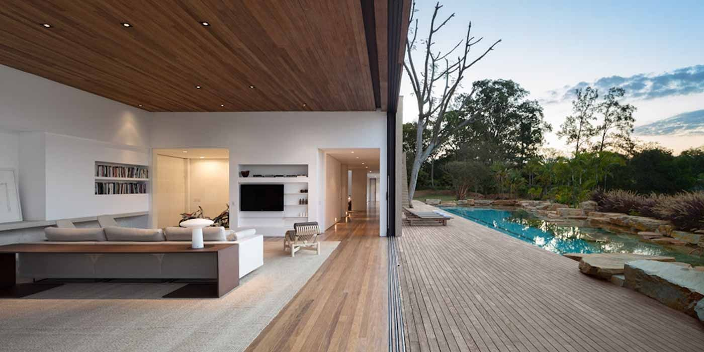 Indoor outdoor living space arthur casas interiores - Arquitectura moderna casas interiores ...