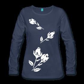Langarmshirt für Frauen mit Tulpen