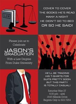 Law School Graduation Invitation Red Law School Graduation Law School Graduation Party Graduation Party Planning