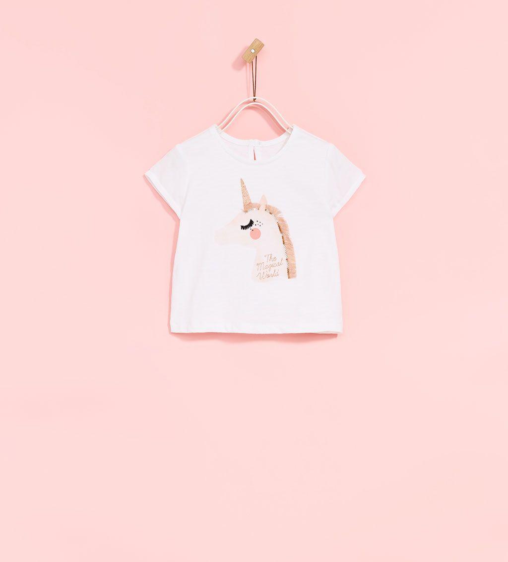 83dd07a34b UNICORN APPLIQUÉ T-SHIRT-NEW IN-BABY GIRL | 3 months - 4 years-KIDS ...