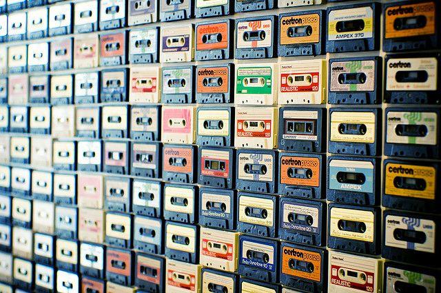 cassette decor.