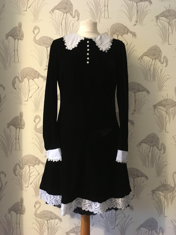 Vintage Black Velvet Dress Retro 90s Grunge Mini Button Etsy Black Velvet Dress Velvet Dress Dresses [ 3000 x 2250 Pixel ]