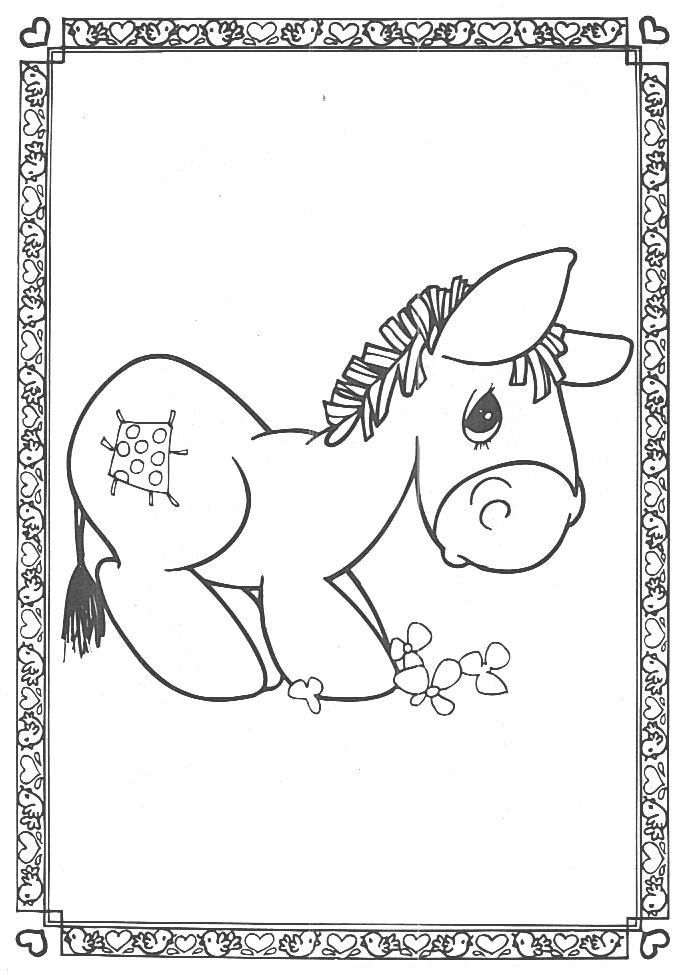 precious moments coloring pages cow - photo#24